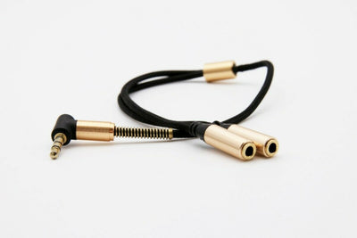 Black Stork High Quality 3.5mm Stereo Audio Splitter 2 female 1 male AUX cable