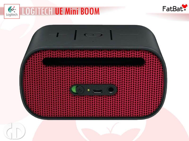 Logitech UE MINI BOOM Bluetooth Speaker and Speakerphone Black/Red