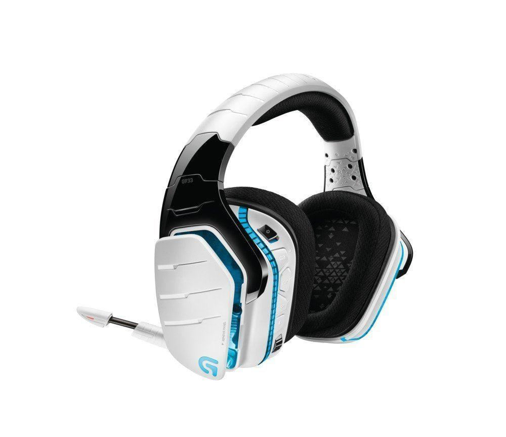 Logitech Artemis Spectrum G933 Wireless 7.1 Surround Gaming Headphones 2.4 GHz White