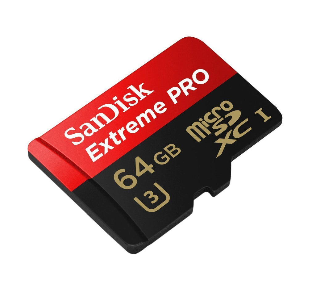 SanDisk Extreme Pro micro SD XC 64GB Class 10 U3 95 MB/s For Go Pro Hero / Dashcam