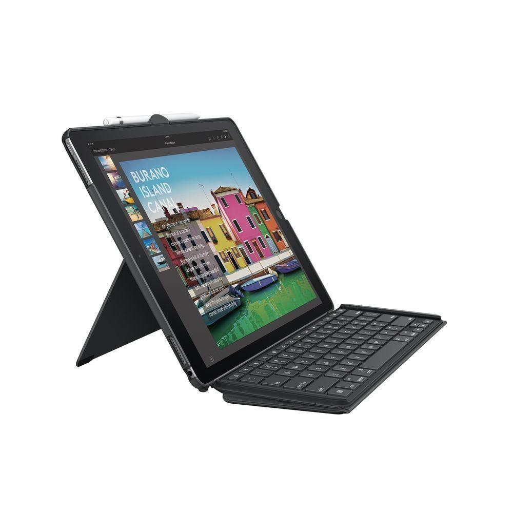 Logitech SLIM COMBO iPad Pro 12.9-inch Keyboard Case QWERTZ GERMAN LAYOUT