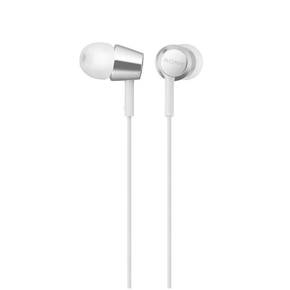SONY MDR-EX155AP Closed Dynamic In-Ear Headphones In-line Remote Mic White