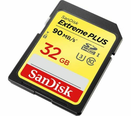 2x 32GB SanDisk Extreme PLUS 90MB/s Class 10 SD SDHC Digital Memory Card twin pk