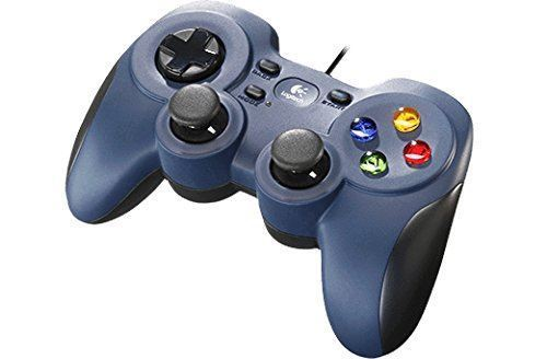 LOGITECH F310 Gamepad Blue For PC Usb 10 Programmable Buttons Wired USB D-pad
