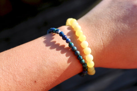 Yellow Jade Bracelet - Gemstones&Co