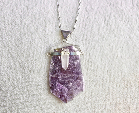 Mica+Quartz Necklace - Gemstones&Co