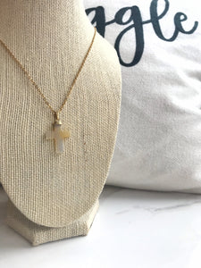 Agate Cross Necklace - Gemstones&Co