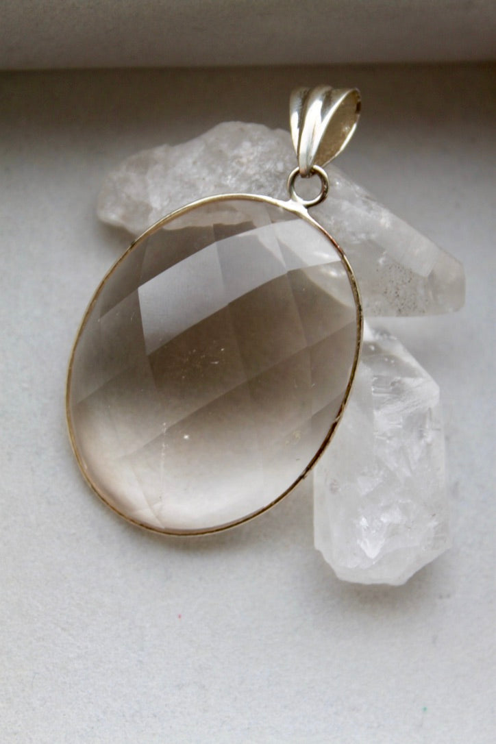 Smokey Quartz Faceted Necklace - Gemstones&Co