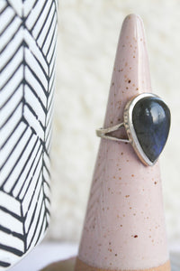 Labradorite Teardrop Ring - Gemstones&Co