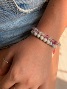 Fluorite Stretch Bracelet - Gemstones&Co