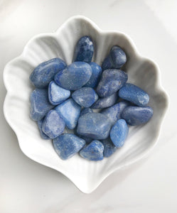 Blue Aventurine Tumbled Stones - Gemstones&Co