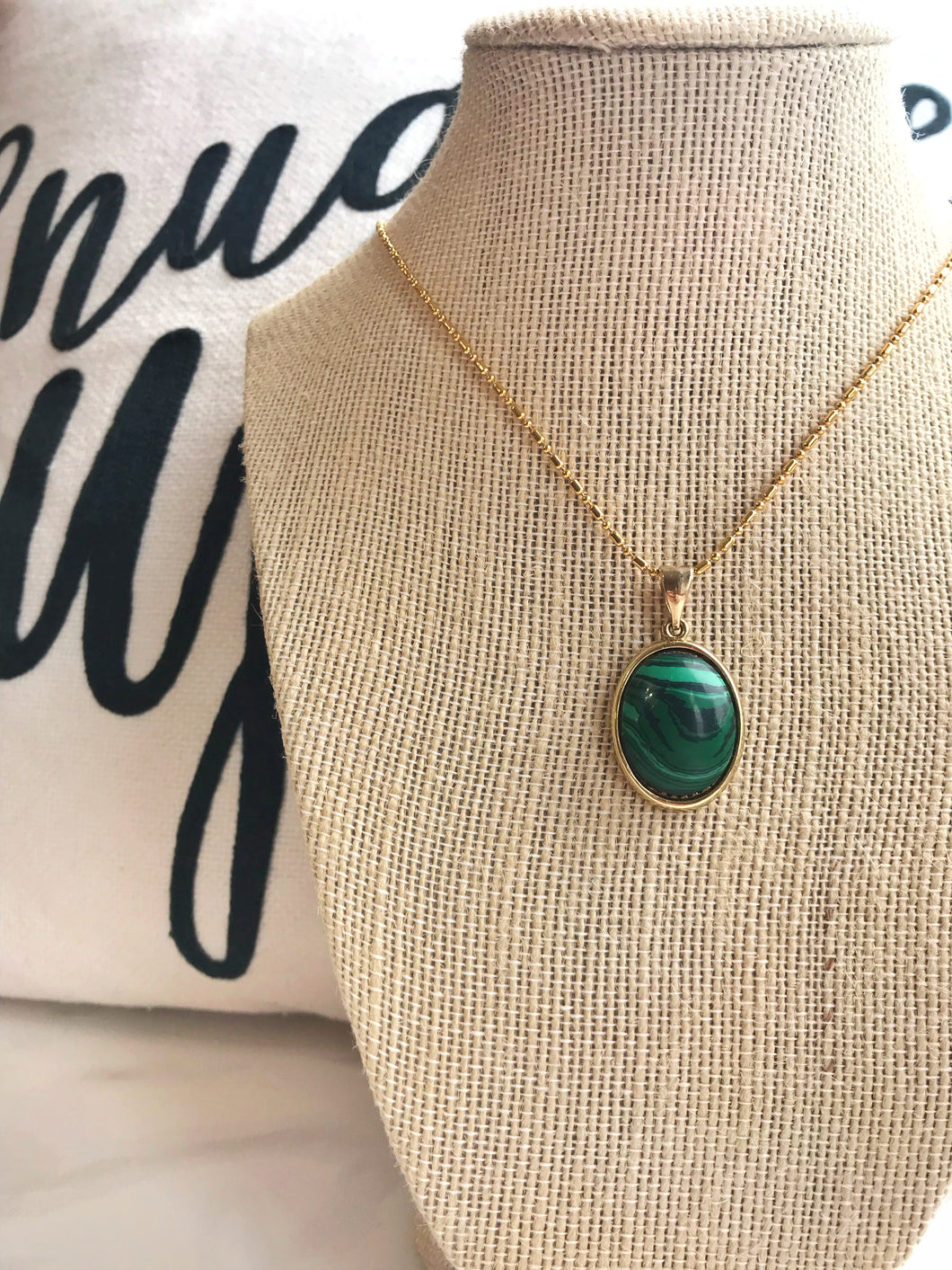 Malachite Necklace - Gemstones&Co