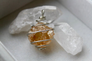 Raw Citrine Pendant - Gemstones&Co