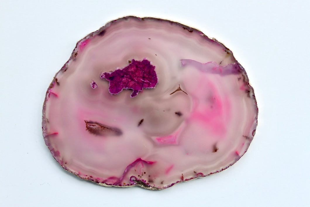 Gold Rim Agate Coaster - Gemstones&Co