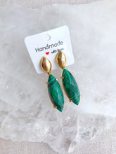 Load image into Gallery viewer, Malachite Earrings - Gemstones&Co