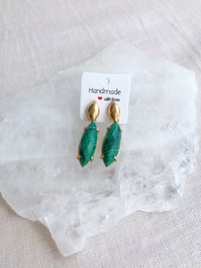 Malachite Earrings - Gemstones&Co