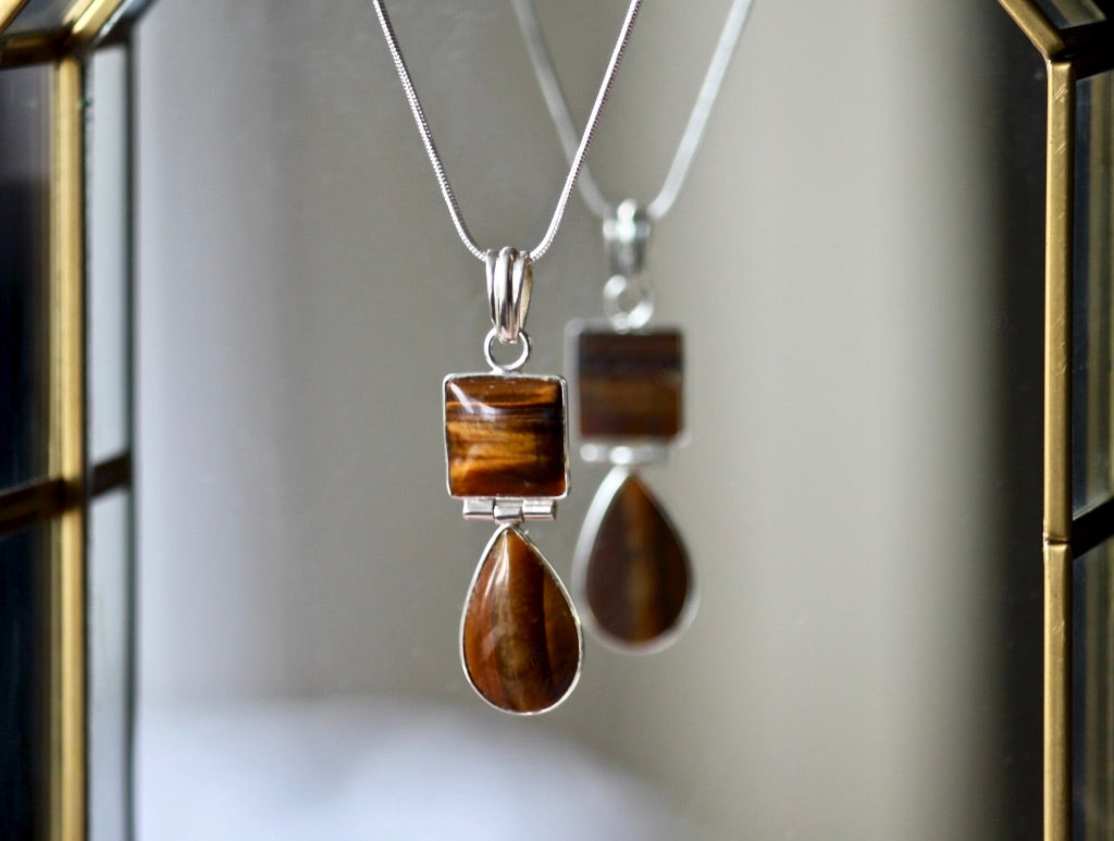 Doubled Tiger's Eye Necklace