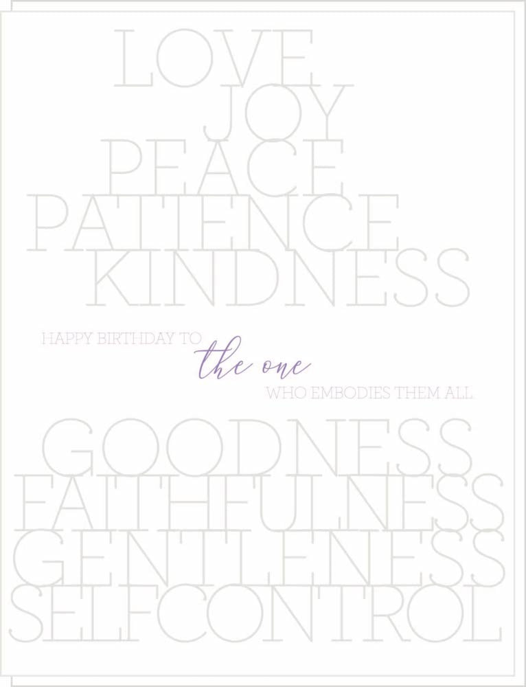 Birthday : Love, Joy, Peace