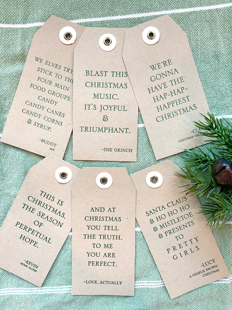 Christmas Movie Gift Tags