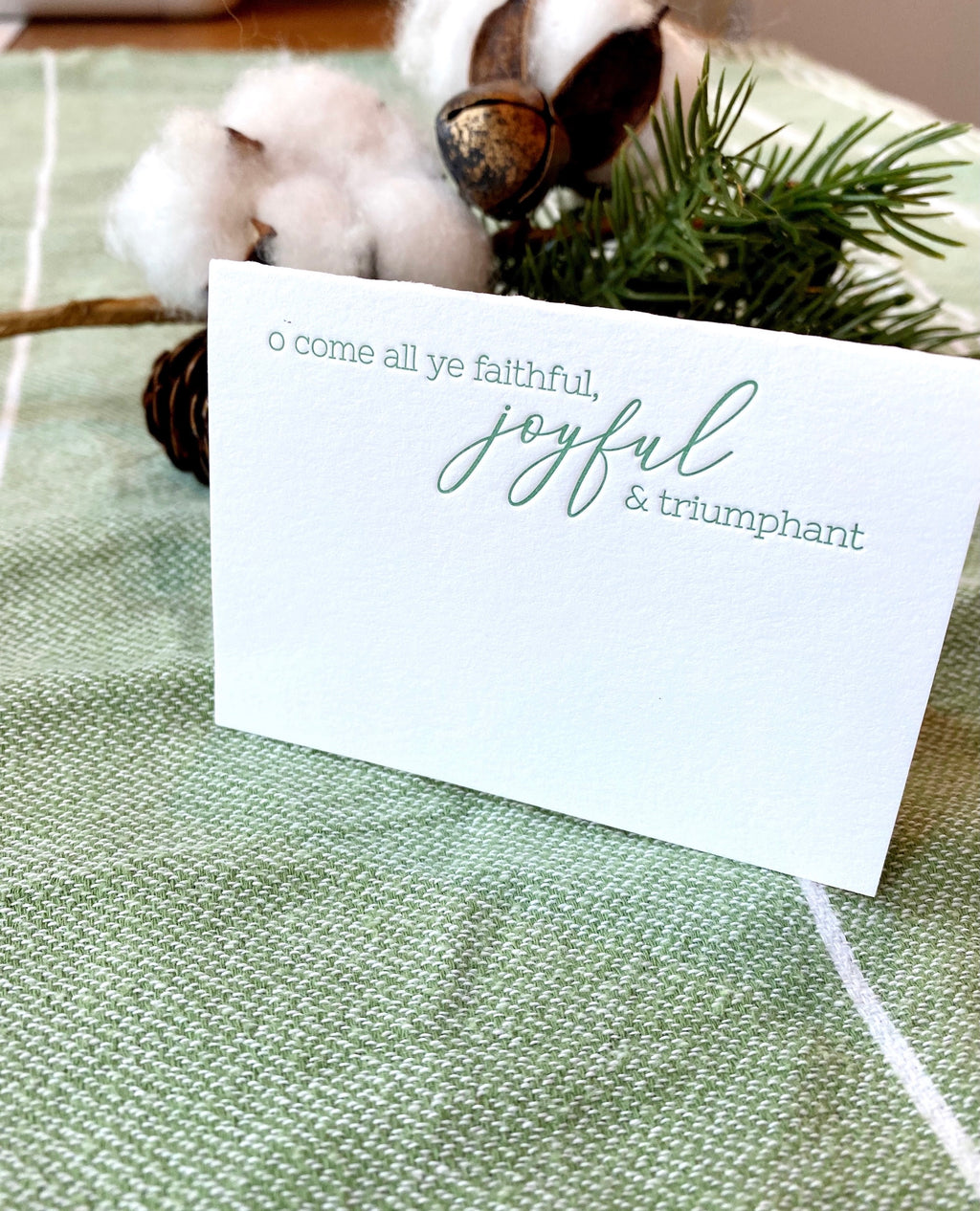 O Come All Ye Faithful Place Cards