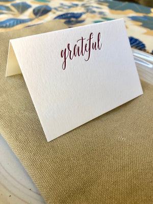 Grateful Place Cards