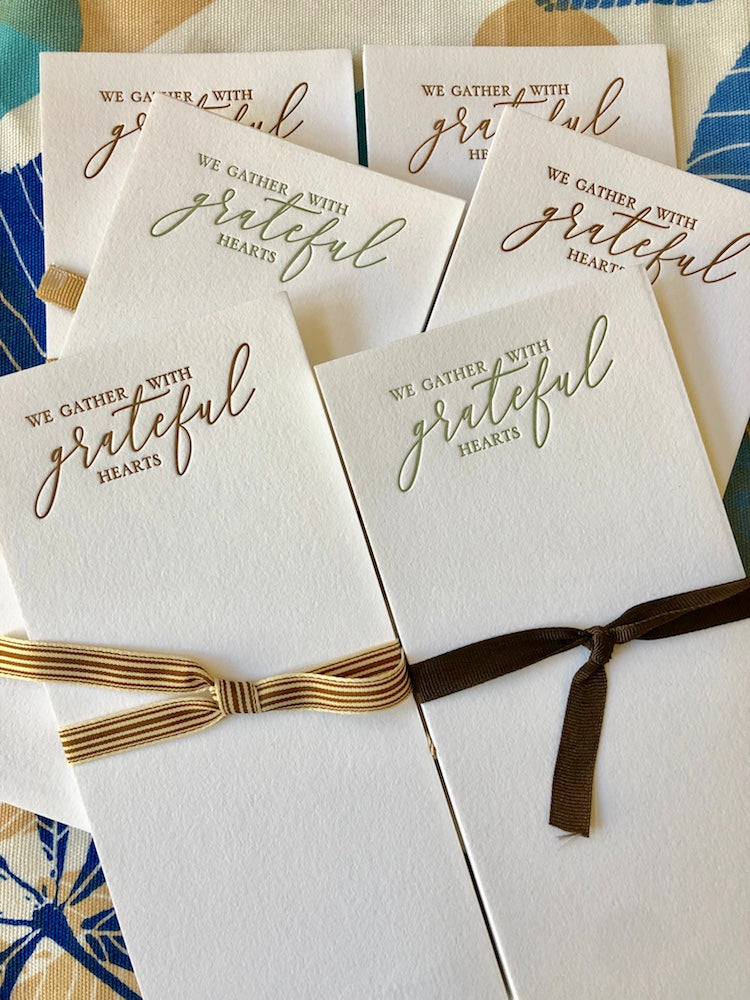Grateful Table Cards