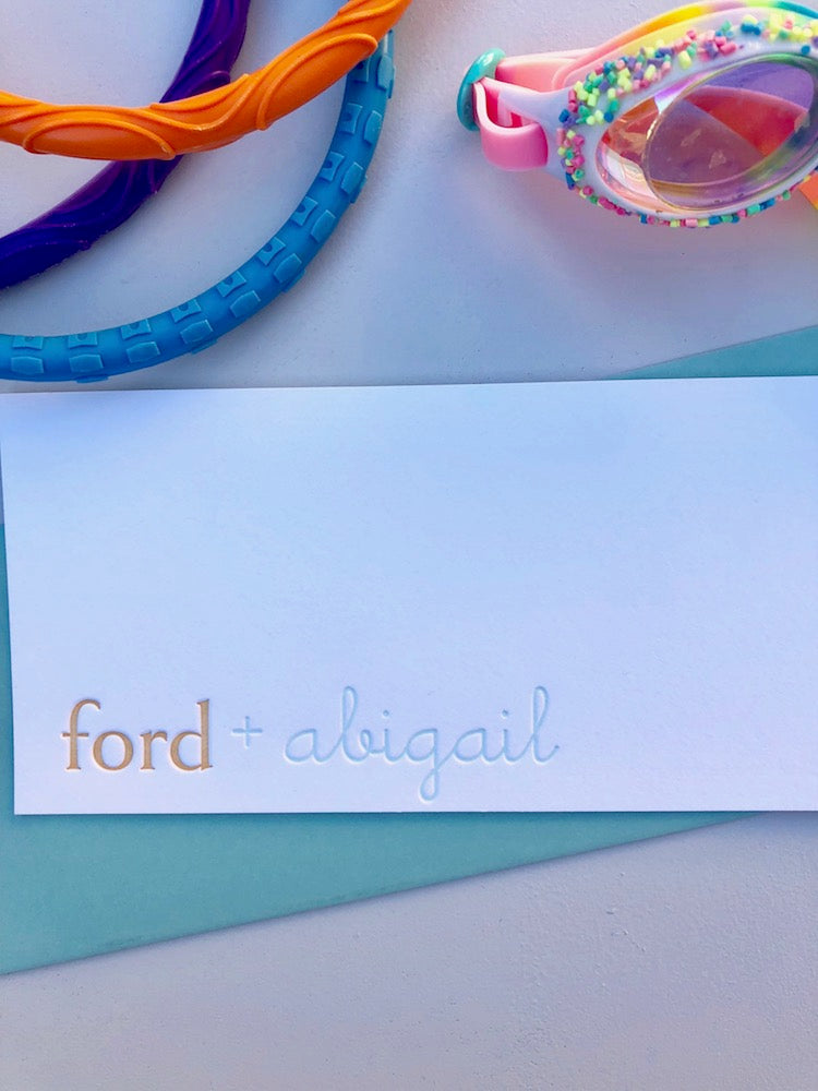 Ford and Abigail Stationery