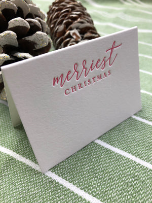 Merriest Christmas Place Cards