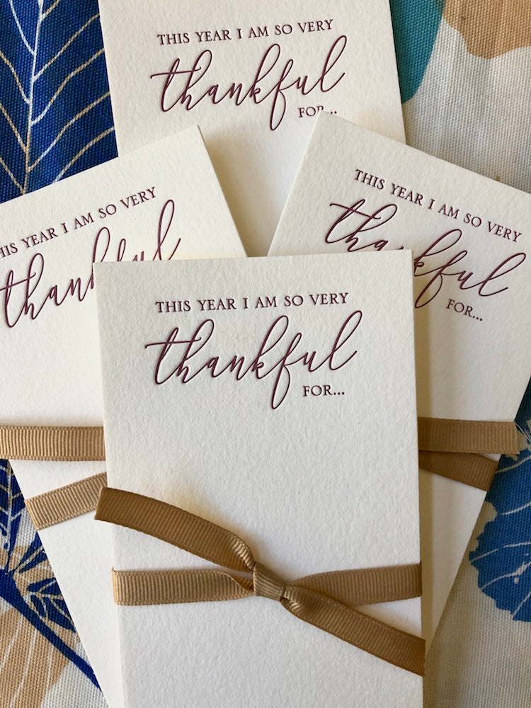Thankful For... Table Cards