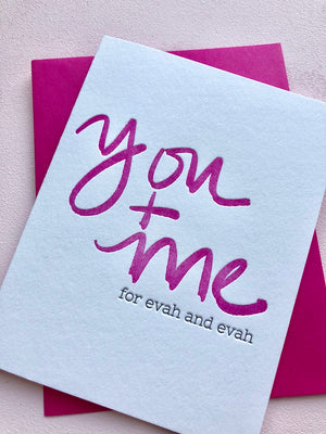 You + Me For Evah and Evah