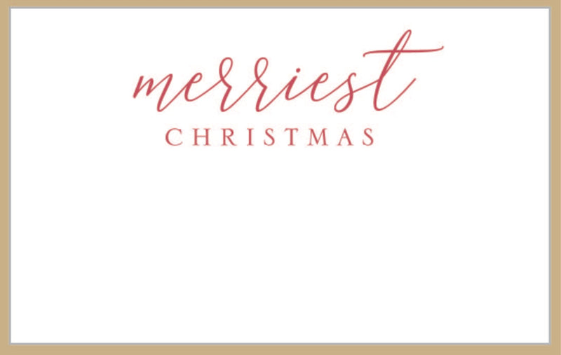 Merriest Christmas Tiny Card