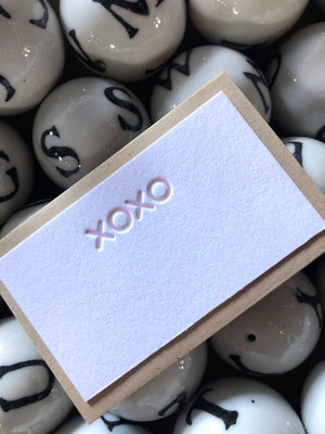 xoxo Tiny Card