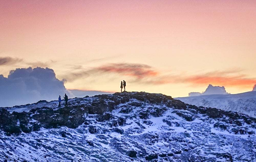 'Conversation On a Mountain Top - Iceland' by Bob Tompkins