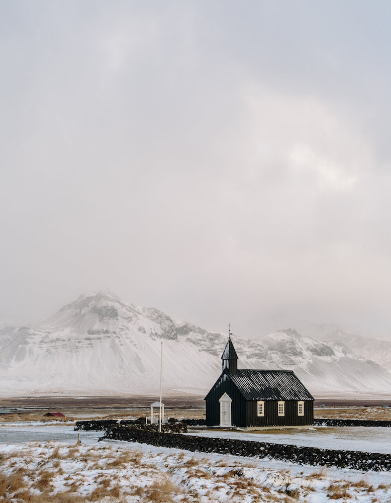 'Buoakirkja (Black church). Buoir, Iceland. November 2016' by Brian Lee