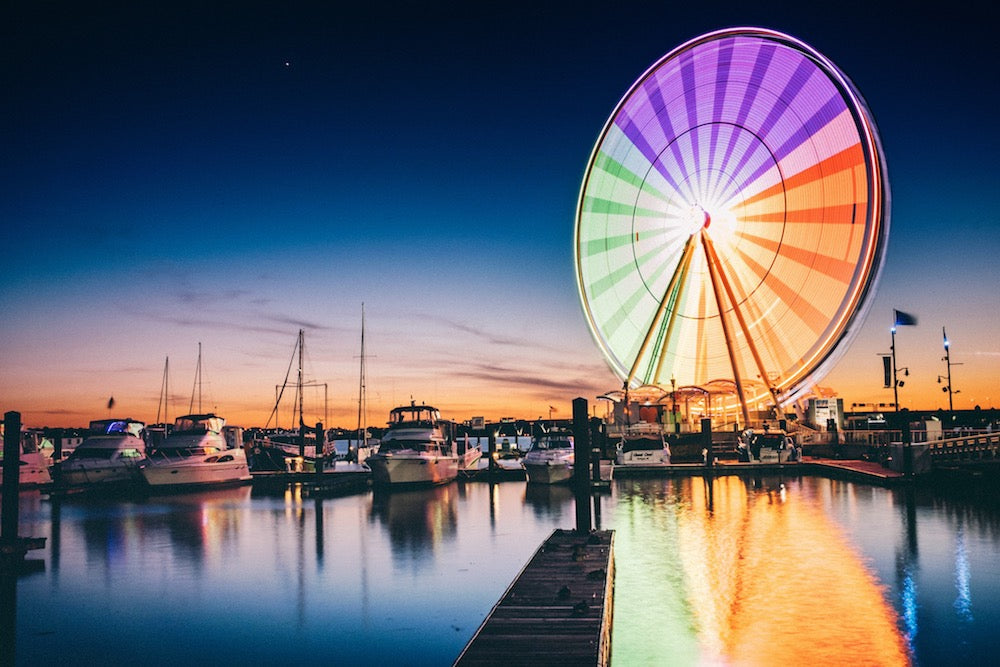 "'""Wheel"" - Sunset at the National Harbor, Washington, D.C.' by Jeremy Goins"