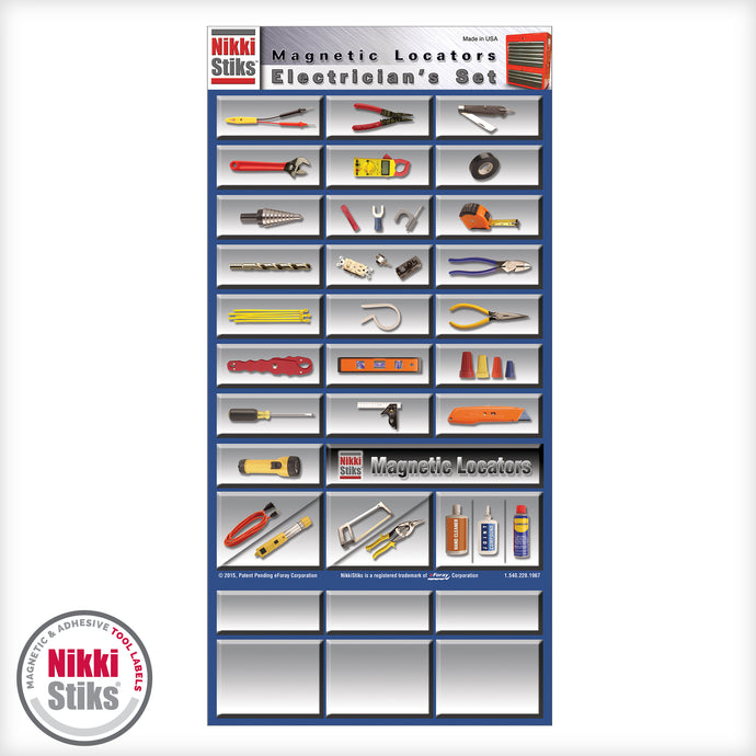 Tool Organization Labels by NikkiStiks® - Electrician's Set