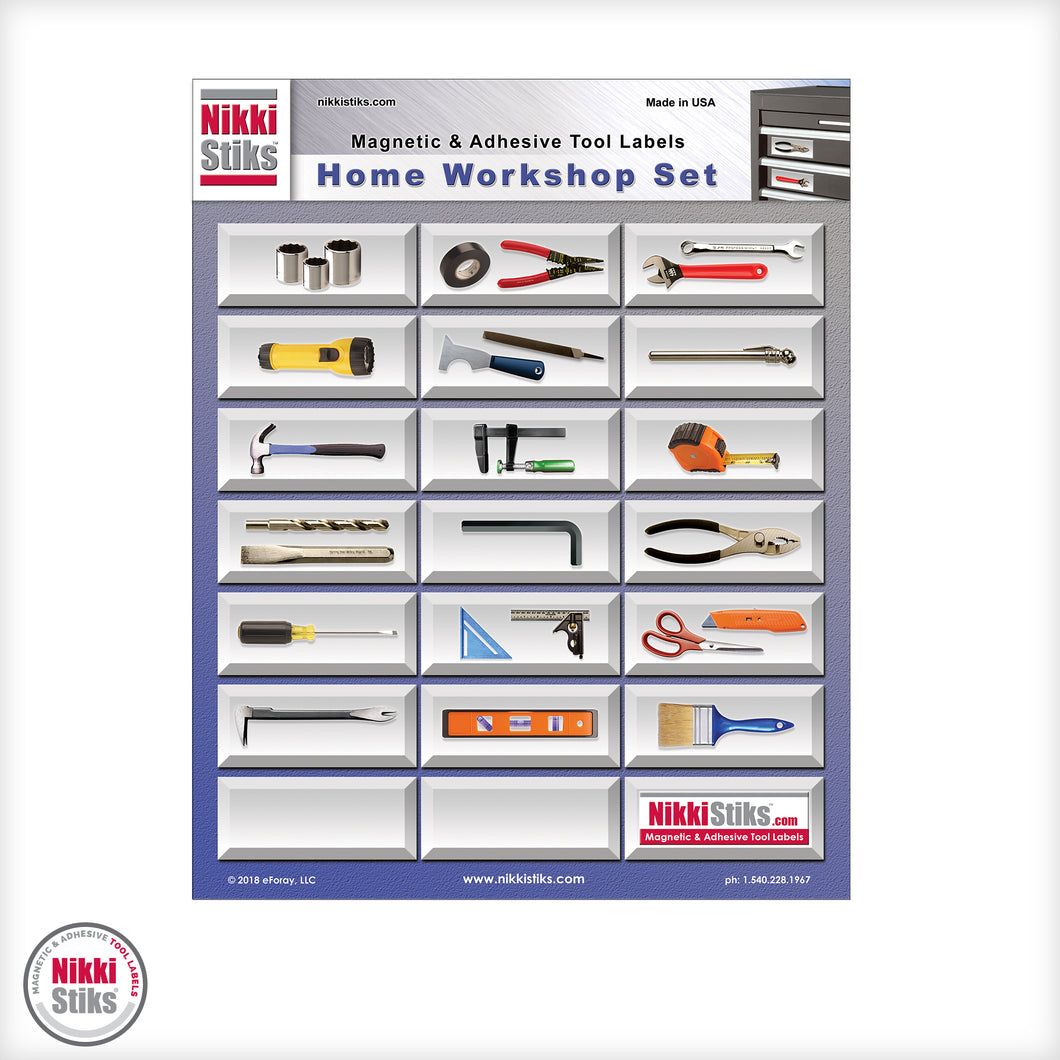 Tool Organization Labels by NikkiStiks® - Home Workshop Set
