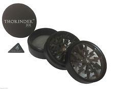 Thorinder 4 Piece Herb Grinder Black 63mm