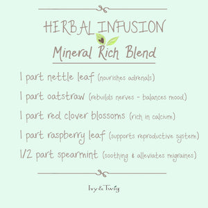 Mineral Rich Herbal Tea Infusion Recipe