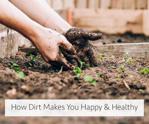 How Dirt Makes You Happy & Healthy