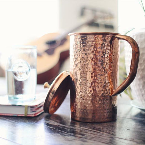 Copper Water Pitcher