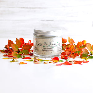 Organic French Clay Mask Acne Prone Oily Skincare