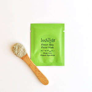 Organic Sample Size French Green Clay Mask Acne Prone Skin