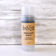 Load image into Gallery viewer, Organic Activated Charcoal Deodorant - Baking Soda Free - Vegan