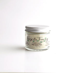 French Green Clay Mask Organic Skincare