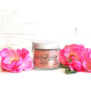 Rose Pink Clay Facial Mask Vegan Organic