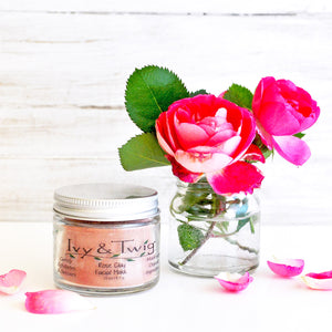 Organic Rose Pink Clay Face Mask Vegan