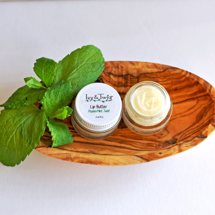 Organic Whipped Peppermint Lip Balm Butter