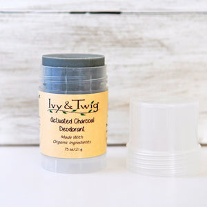 Organic Activated Charcoal Deodorant - Baking Soda Free - Vegan
