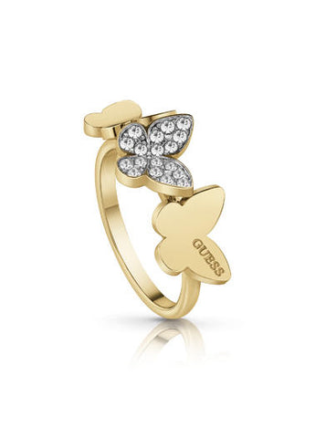 Anillo Dorado Guess Jewellery